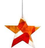 Ster triangle rood-geel-oranje