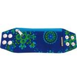 Zipper bracelet vintage blue S/M