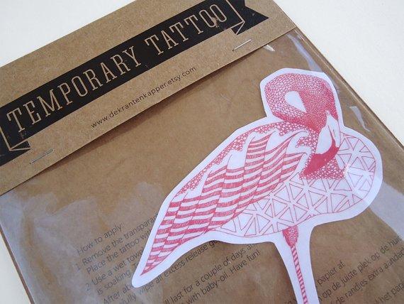 Tattoo flamingo