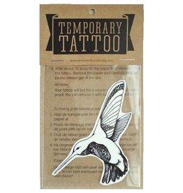 De krantenkapper Tattoo kolibri zwart