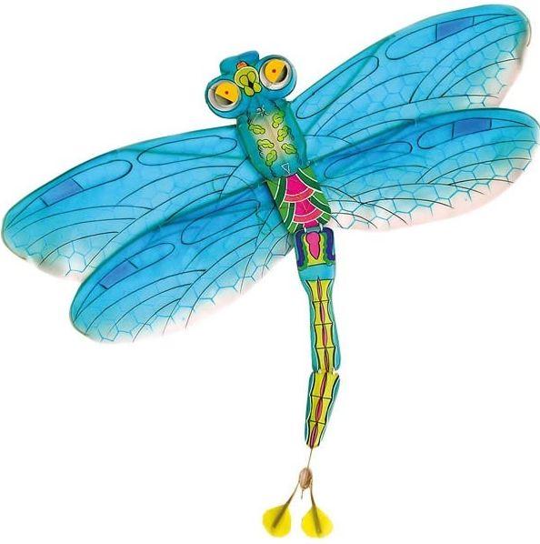Dragonfly vlieger blauw