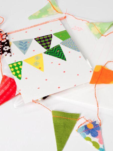 Postkaart met slingertje