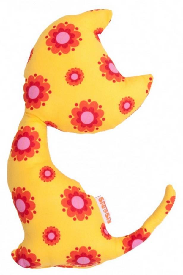 Knuffel katje geel