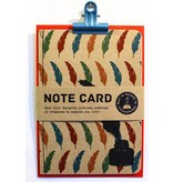 Note card veer & inktpot