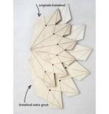 Pakje papier voor de houten mallen Kerst