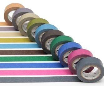 MT washi tape pack darks