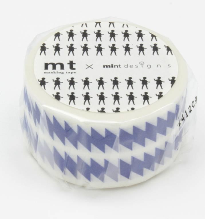 MT washi tape ex ZigZag blue