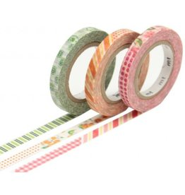 MT  MT washi tape slim set deco flowers