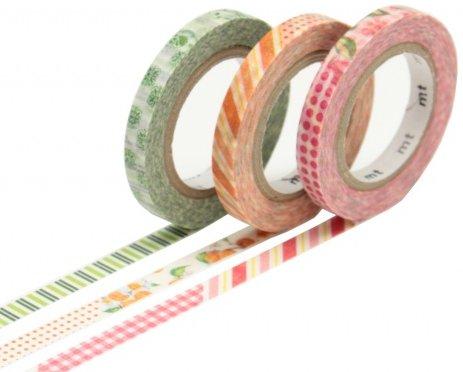 MT washi tape slim set deco flowers