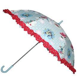 Zebra trends Paraplu blauw met bloemen