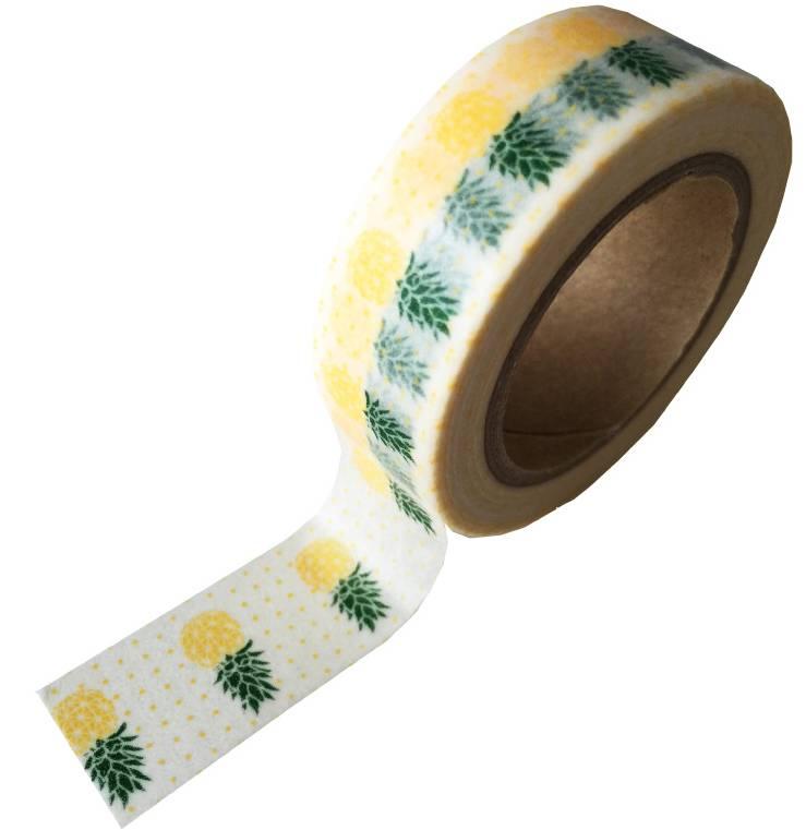 Masking tape pineapple