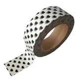 Masking tape zwarte hartjes