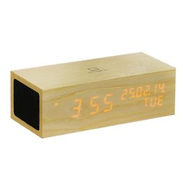 Ging-ko Music Click Clock met oranje led
