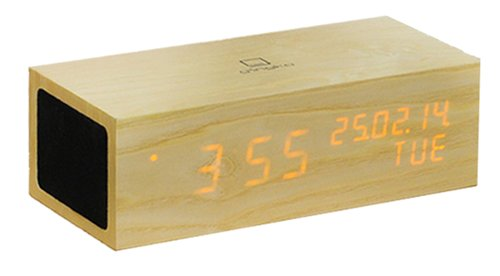 Music Click Clock met oranje led