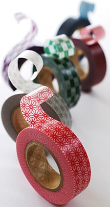 MT washi tape hasen red