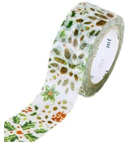 MT  MT masking tape Kerst plant pattern