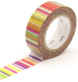 MT  MT washi tape multi border vivid