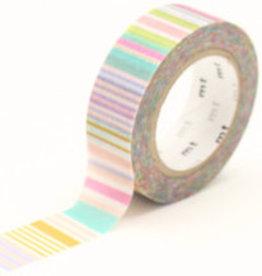 MT  MT washi tape multi border pastel