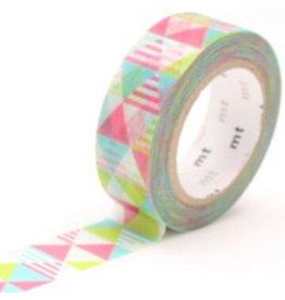 MT  MT washi tape shimasankaku pink