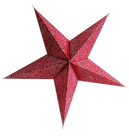Kerstster sparkle red