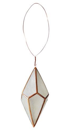 Kerst hanger polygon capiz koper