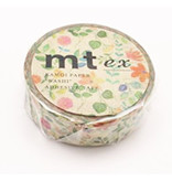 MT washi tape ex watercolor flower