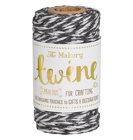 The Makery Twine liquorice & silver