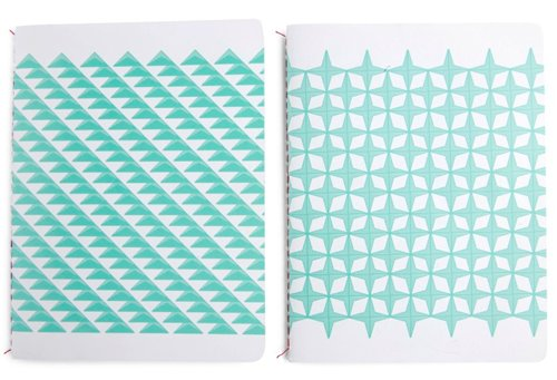 Set notebooks blue stars