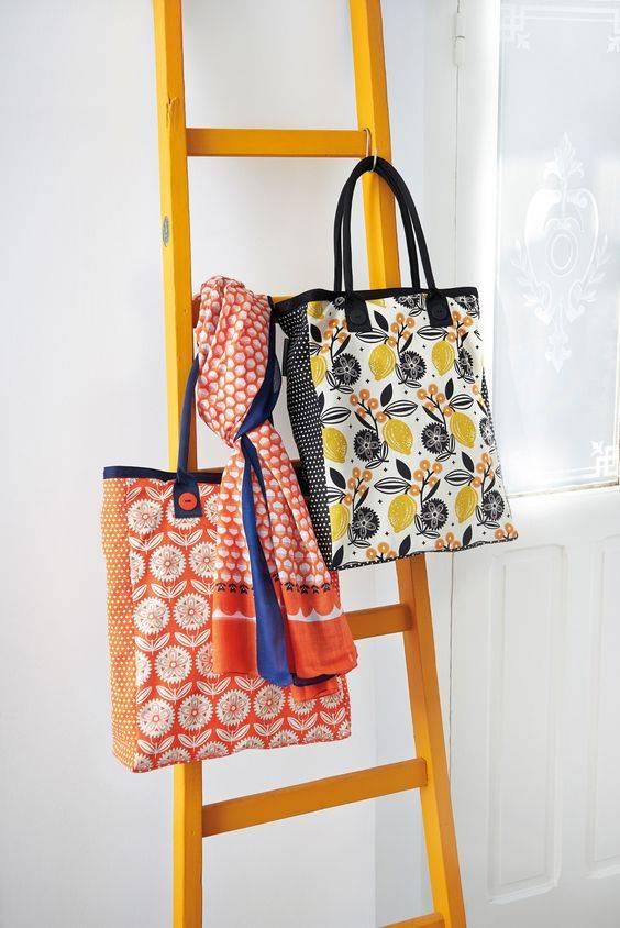 Canvas tas Fleurs et citron