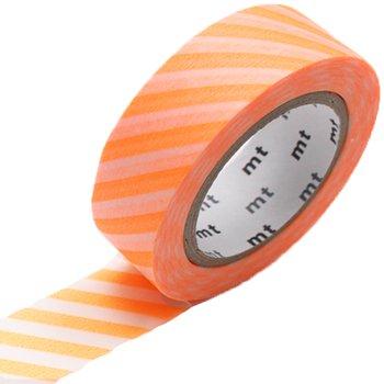 MT washi tape stripe shocking orange