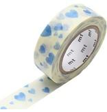 MT washi tape heart stamp blue