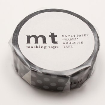 MT masking tape dot black x gray
