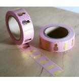 Masking tape pineapple pink
