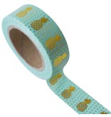 Masking tape pineapple mint