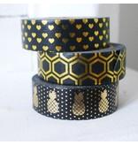Masking tape pineapple black