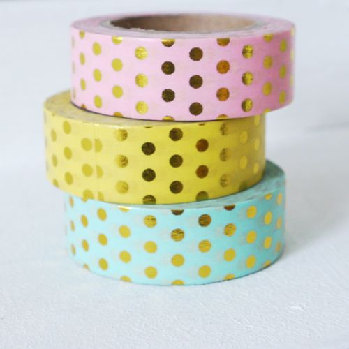 Masking tape pink dot gold