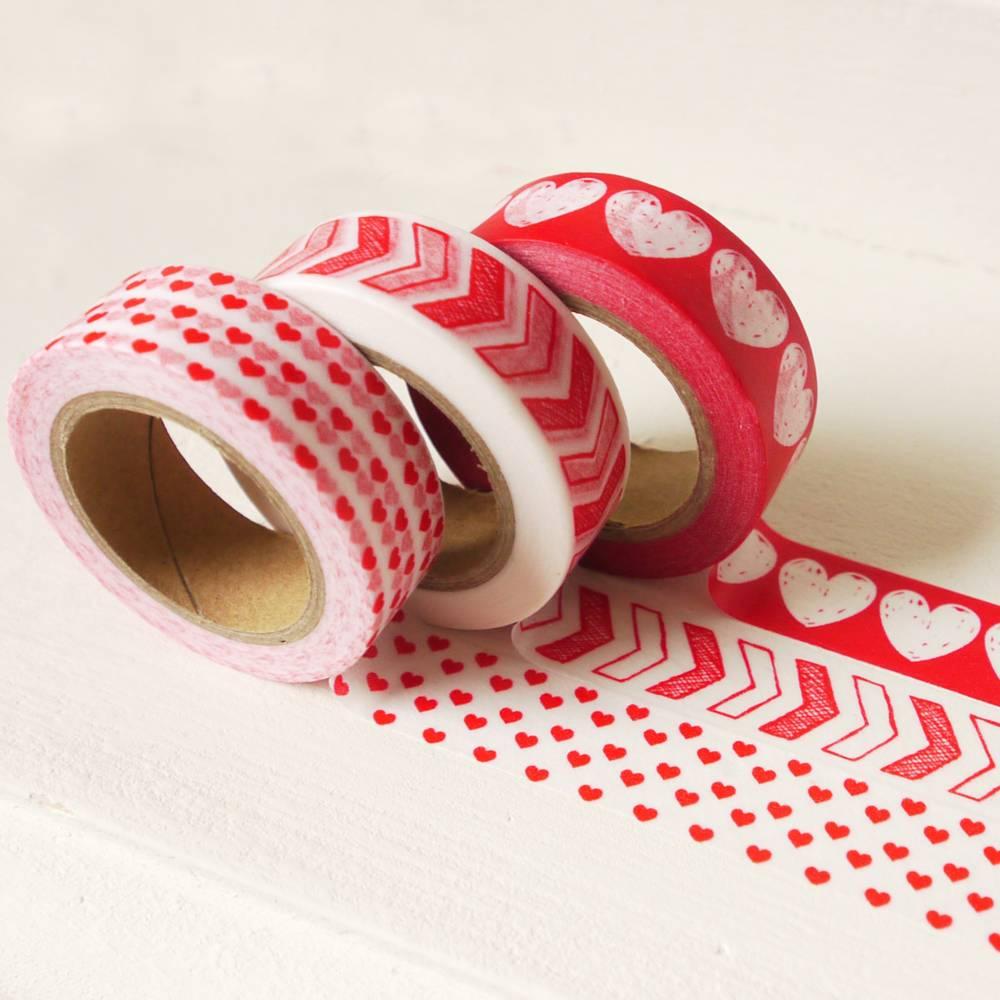 Masking tape rode hartjes