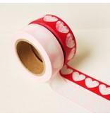 Masking tape zachtroze hart