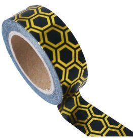 Masking tape hexagon gold