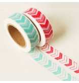 Masking tape arrow red