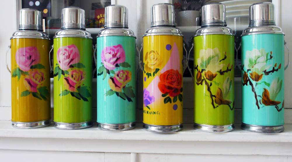 Thermoskan 1,2 liter roze roos