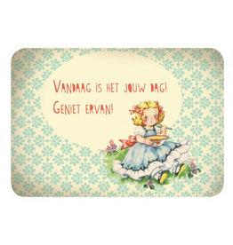 de kaartjesfee Kaart vintage girl