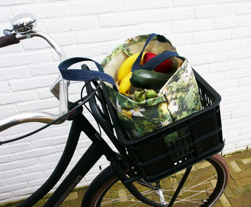 Fietskrat shopper madelief