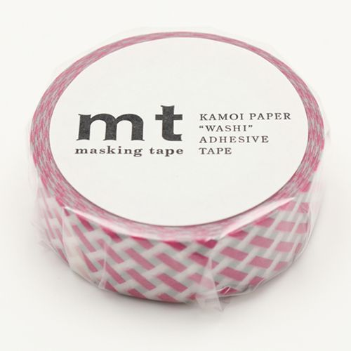 MT masking tape net check pink