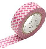 MT masking tape net check pink