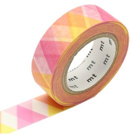 MT  MT washi tape triangle and diamond pink
