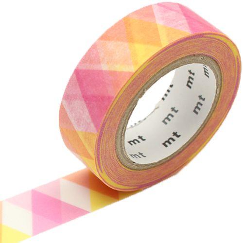 MT washi tape triangle and diamond pink