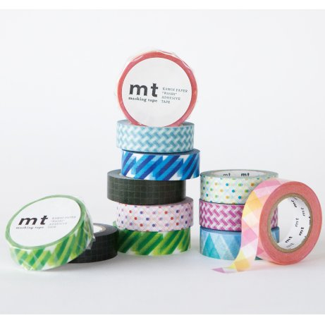 MT masking tape triangle and diamond blue