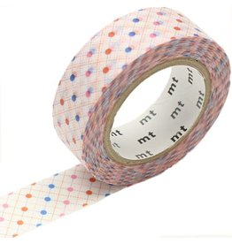 MT  MT washi tape hasen dot red