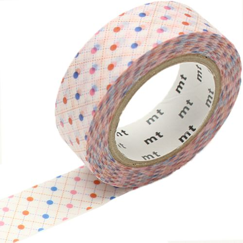 MT washi tape hasen dot red